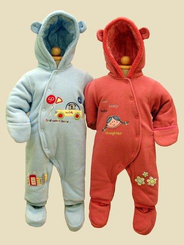 Kupić Pajacyk niemowlęcy PA-1 z ociepleniem 120 gram / m2; odpinane buciki + wywijane rękawy z funkcją rękawiczek lub otwartego rękawa