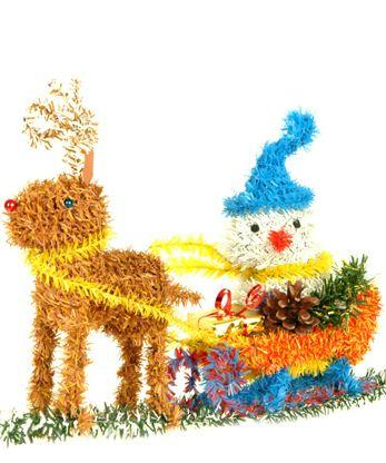 Kupić Bałwan na saniach- dekoracje świąteczne