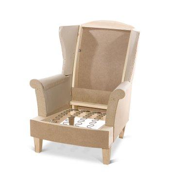 Английское кресло с ушами своими руками с размерами 11