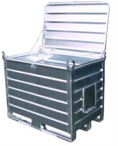 Pojemniki metalowe z płozami i z klapą typ RMK / Ёмкость Тип РМК на полозъях с боковым клапаном