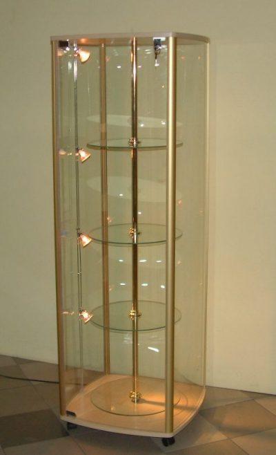 Kupić  Gablota szklana ze szkłem giętym