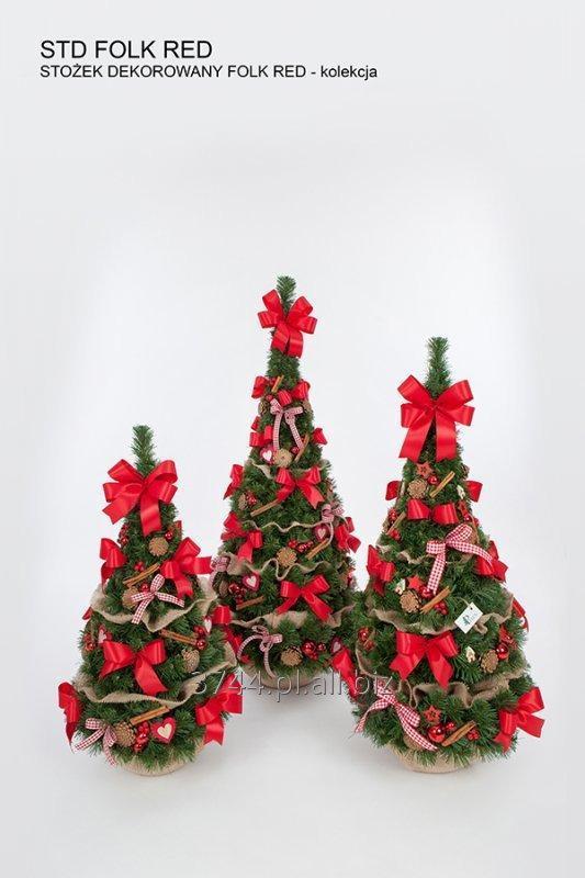 Kupić Choinka dekorowana -w kształcie stożka w jucie -80cm/95cm/120cm z kolekcji ROSA