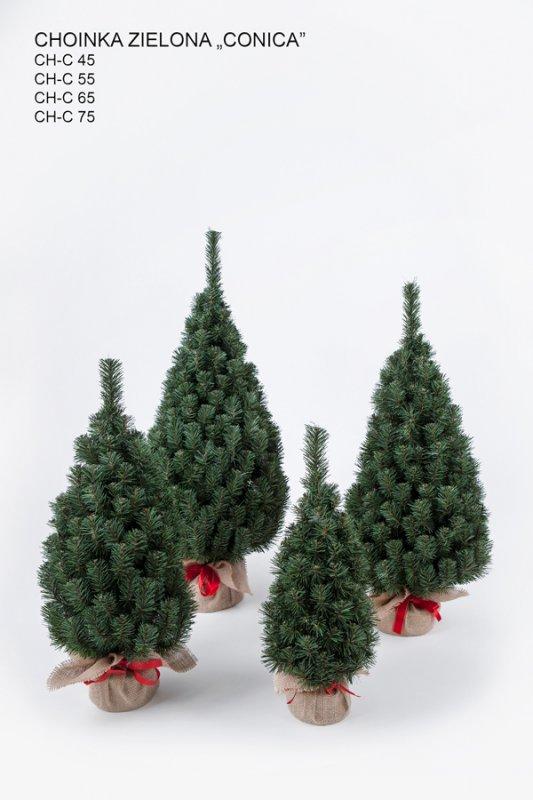 Kupić Choinki sztyczne zielone CONICA 35 , 45, , 55, 65 , 75 cm.