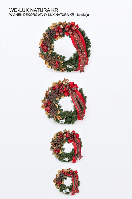 Kupić Wianki dekorowane świąteczne na drzwi, ścianę , stoły.