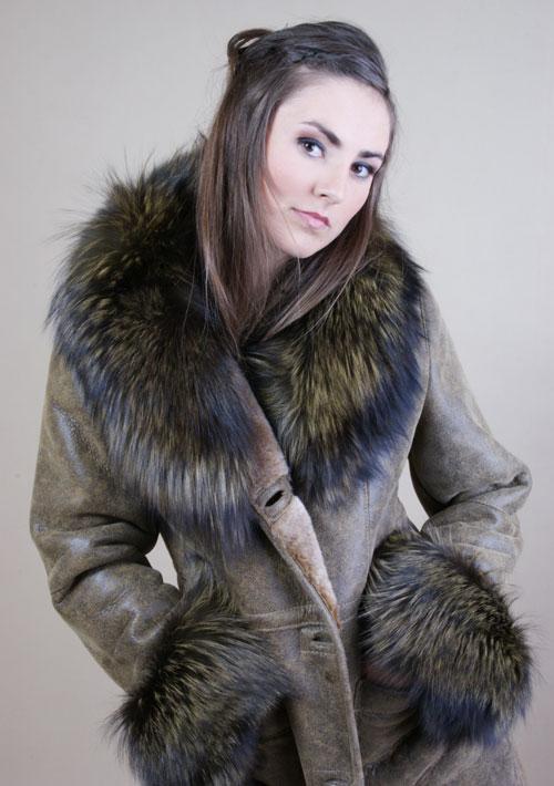 Kupić Elegancki kożuch damski zapinany na guziki
