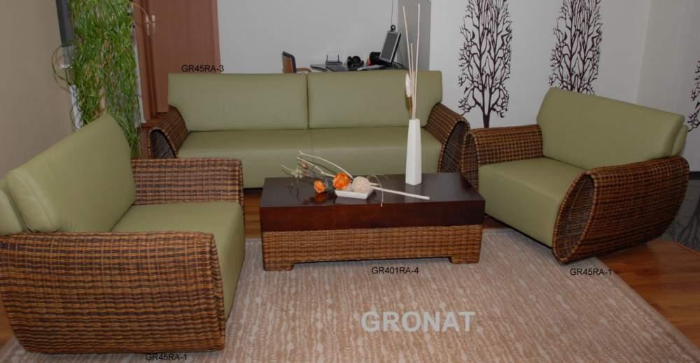 Kupić Zestaw wypoczynkowy GR45 Skóra Rattan