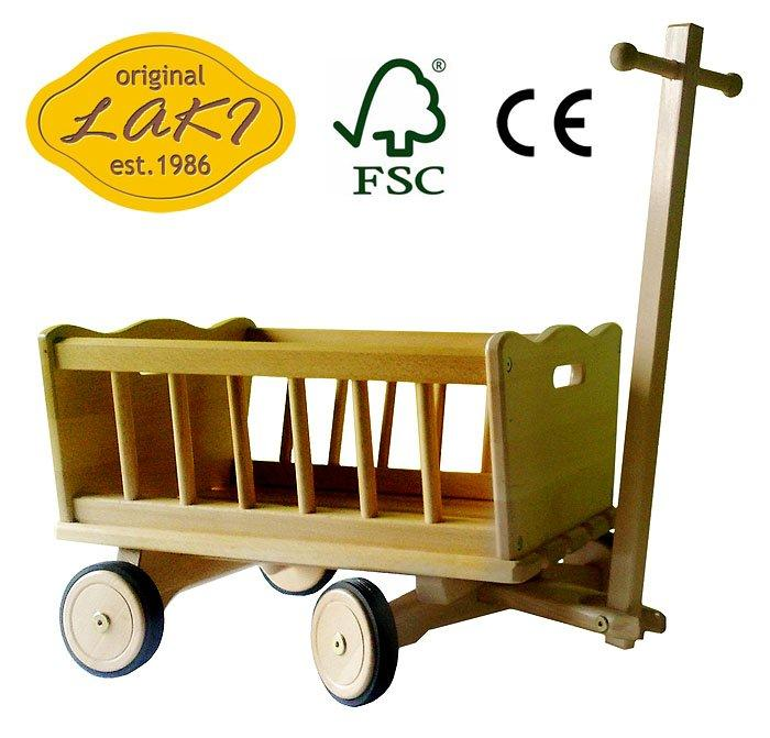 Kupić Wózek drewniany FSC WZ12M - 06 Mały