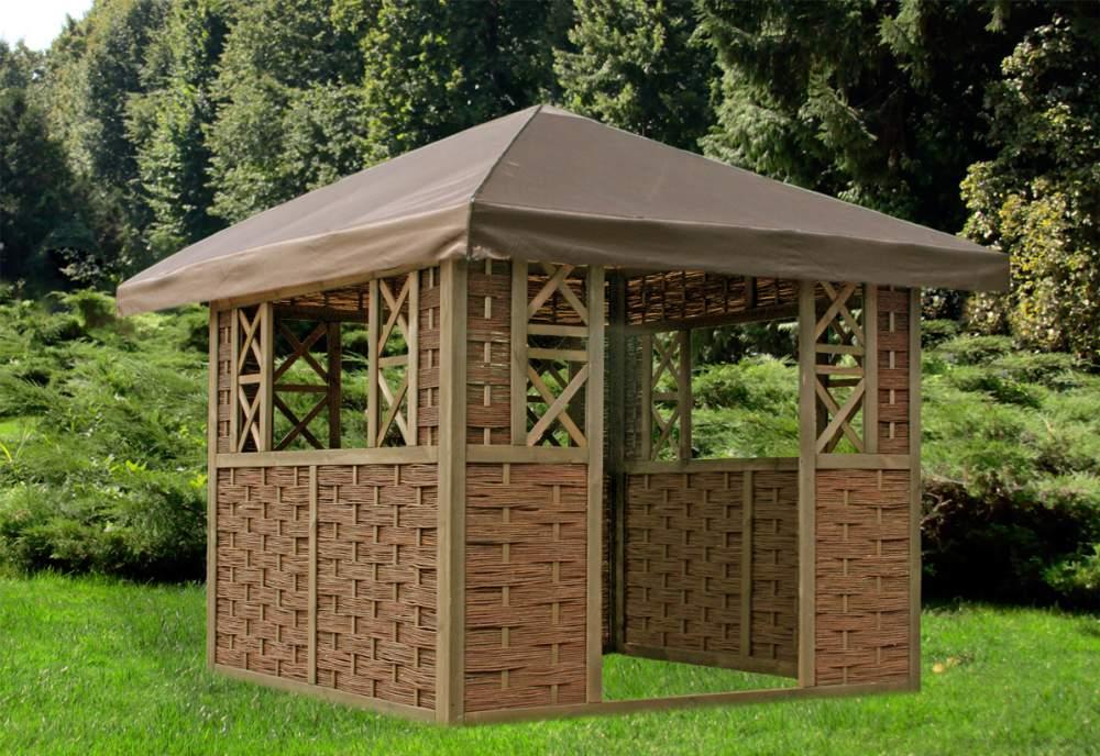 Kupić Altana ogrodowa wiklinowa, gazebo, pavilion