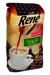 Kupić Kawa Ziarnista RENE BRAZIL 1KG
