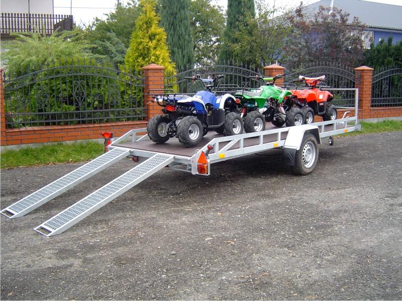 Kupić Przyczepo-lawety pod transportu quadów B-750/0/M4 A-1300/0/M4