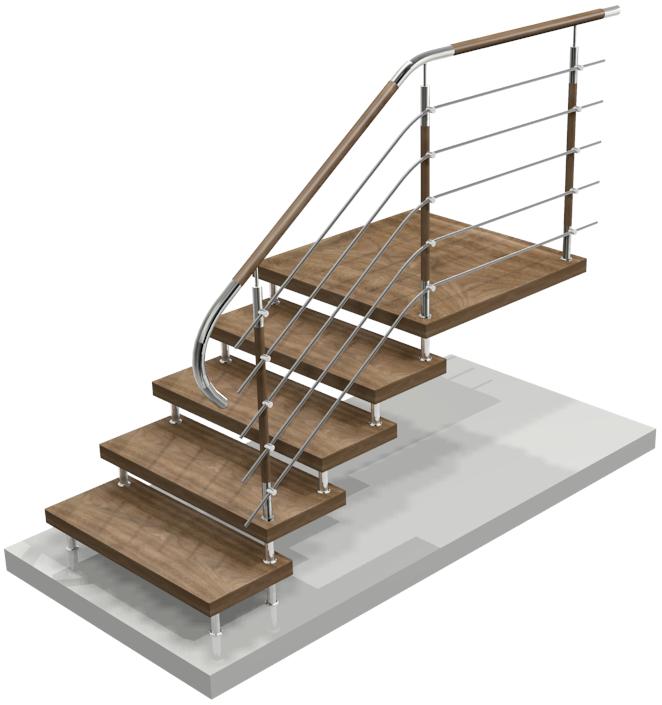 Treppengeländer aus Holz in Pietrowice Wielkie Polen, kaufen, Preis