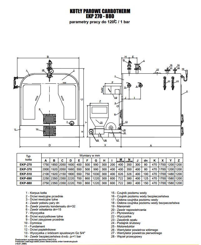 Kupić Kotły parowe Carbotherm EKP 270-880