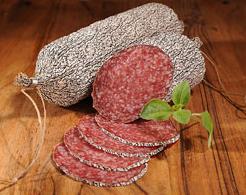 Kupić Nowy bogatszy smak. Swoim smakiem nawiązuje do tradycyjnych salami. Do wyprodukowania 100g wyrobu używa się 142g mięsa wieprzowego.