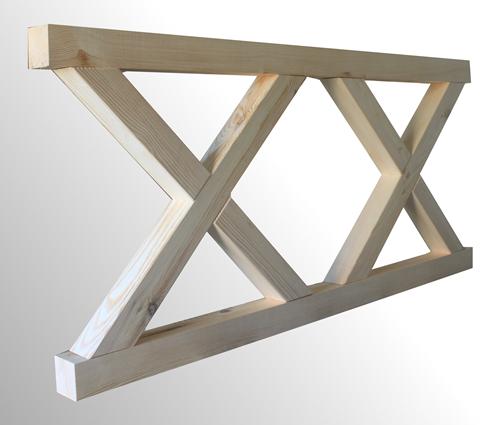 Kupić Drewniane elementy ogrodzenia typ X