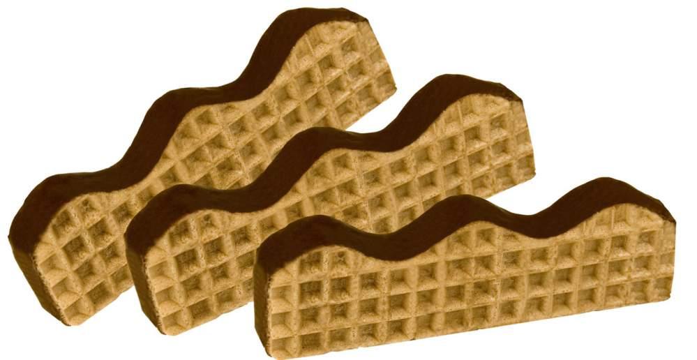 Kupić Fala wafle zdobione mleczną czekoladą przekładane kremem o smaku kukułki
