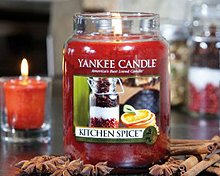 Świece woskowe Yankee Candle do aromaterapii.