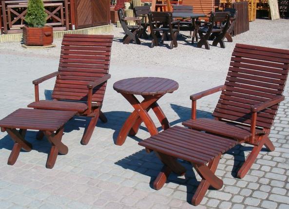 Kupić Meble drewniane ogrodowe z wysokiej jakości drewna.