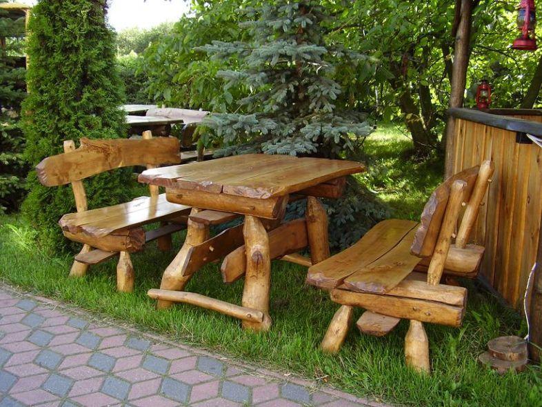 Kupić Stół drewniany ogrodowy wraz z ławami