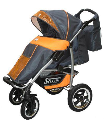 Kupić S-LANDER, lekki, obszerny i komfortowy wózek spacerowy z regulowana rączką i skrętnymi kołami 360'