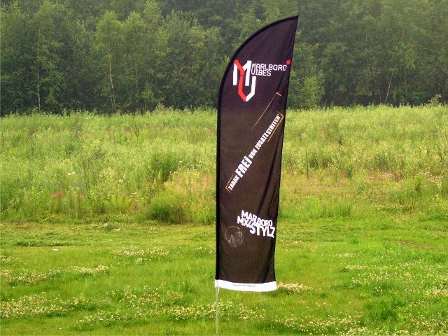 Kupić Flagi reklamowe z wyjątkowo trwałej tkaniny poliestrowej 110g/m2 z nadrukiem 100%