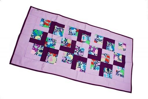 Kupić Patchwork - Kolorowe wycinanki tło fioletowe 60x120 cm