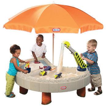 Kupić Little tikes Piaskownica Plac Budowy z parasolem