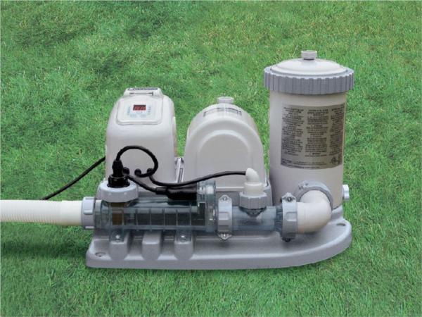 Salt Water Filter For Intex Pool Pompa basenowa z generatorem chloru 7570 l/h INTEX 54612 ...