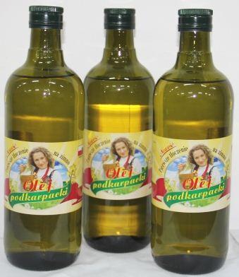 Kupić Olej podkarpacki z pierwszego tłoczenia rzepakowy butelka szklana