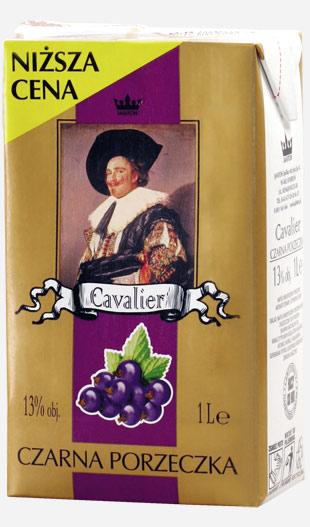 Kupić Wina owocowe Cavalier czarna porzeczka karton