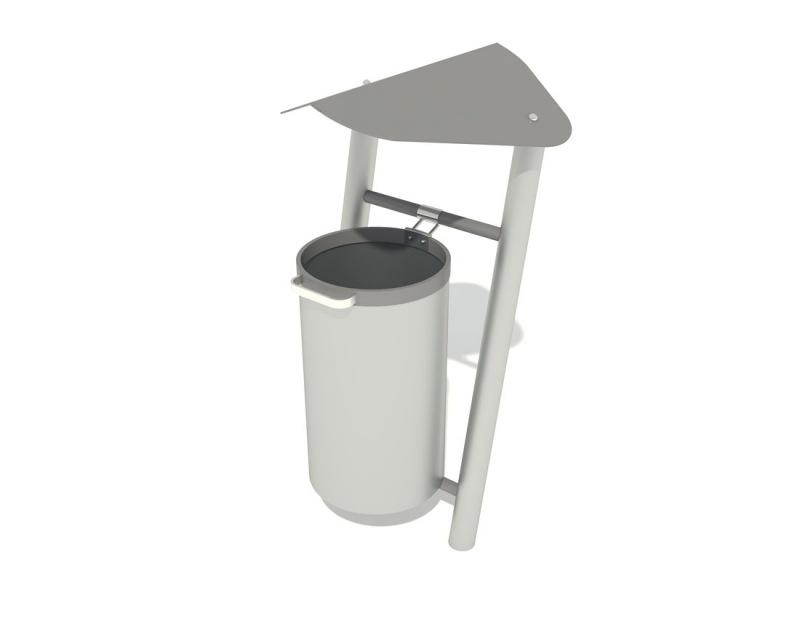 Kupić PM 5050 Kosz na śmieci 40 l ocynk na ramie ukośnej