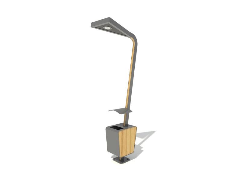 Kupić PD/PM 5083 Lampa uliczna z koszem na śmieci