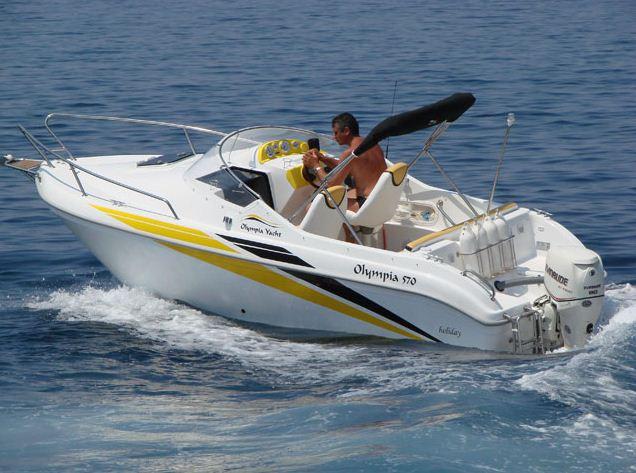 Kupić Olympia 570 holiday jest kabinową łodzią rekreacyjno-sportową, która znakomicie sprawdza się na wodach śródlądowych i morskich przybrzeżnych.