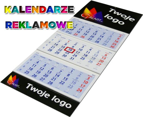 Kupić Kalendarz trójdzielny płaski