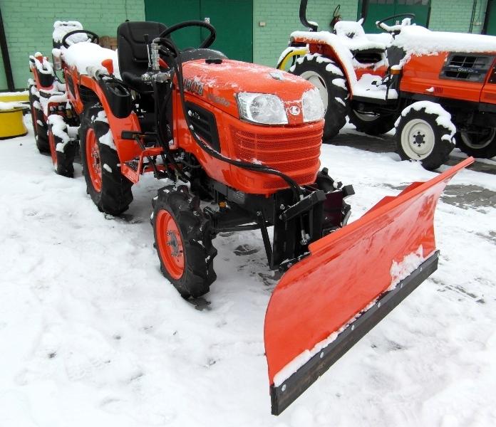 Kupić Kubota B1220 z pługiem do śniegu!