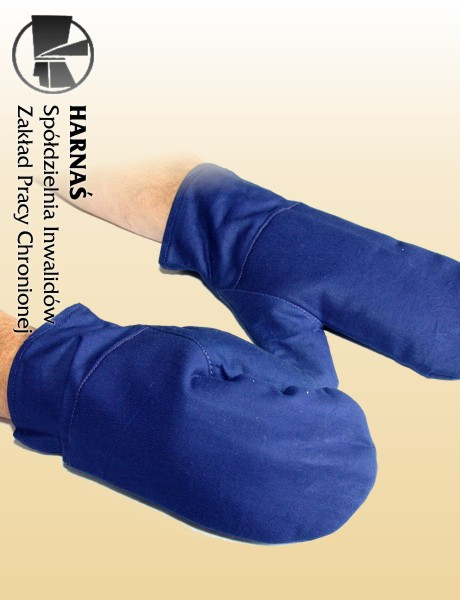 Kupić Rękawice ochronne dziane bawełniane, pięciopalcowe, impregnowane, trudnopalne D5-347