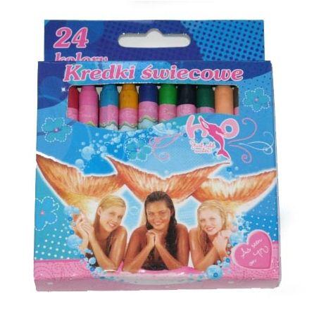 Kupić Kredki świecowe 24 kolory Gormiti, H2O w opakowaniu kartonowym