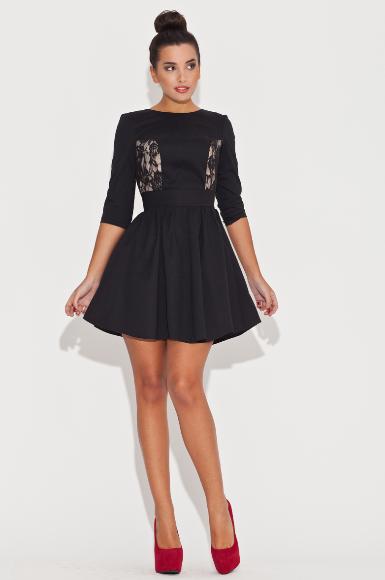 Kupić Krótka sukienka z koronkową wstawką