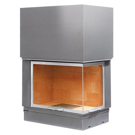 Kupić Wkłady kominkowe stalowo-szamotowe Axis 900 VLD chrom-satyna, prawa boczna szyba, drzwi podnoszone