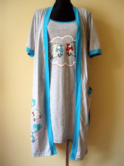 Kupić Komplet+koszula na ramiaczka ze szlafrokiem