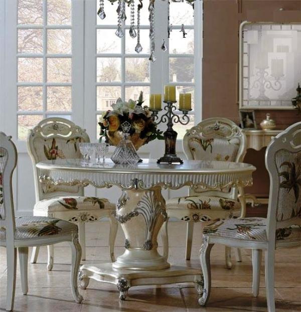 Inne rodzaje Stylowa, piękna, biała jadalnia Chanel kupić w Ustroń QJ53