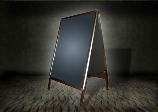 Kupić Potykacz reklamowy OWZ dwustronny - format A2 (420 mm x 594 mm)