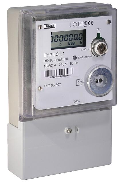 Kupić Elektroniczny jednofazowy licznik energii elektrycznej z komunikacją cyfrową LS1.1 Złoty medal targów Automaticon 2006