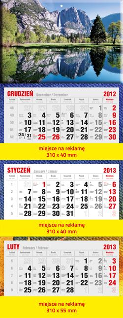 Kupić Kalendarz trójdzielny Standard (PRT-KAL-TROJ-STD)