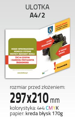 Kupić Ulotka A4/2 (PRT-ULO-A4-2-KR170-4+4)