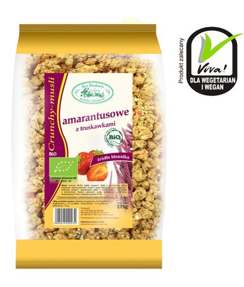 Kupić Eko crunchy musli amarantusowe z truskawkami