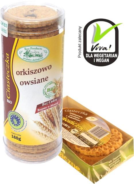 Kupić Eko ciasteczka orkiszowo-owsiane z bakaliami bez cukru