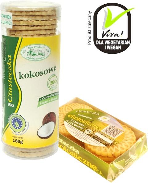 Kupić Eko ciasteczka kokosowe z cukrem trzcinowym