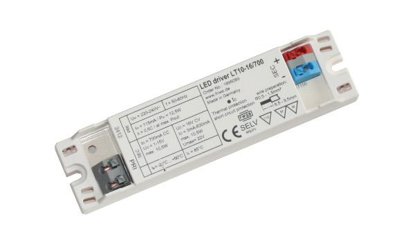 Kupić Zasilacz FRIWO do LED LT10-16/700, stałoprądowy 700mA, moc 11.2W, Uwy 1-15VDC, IP20