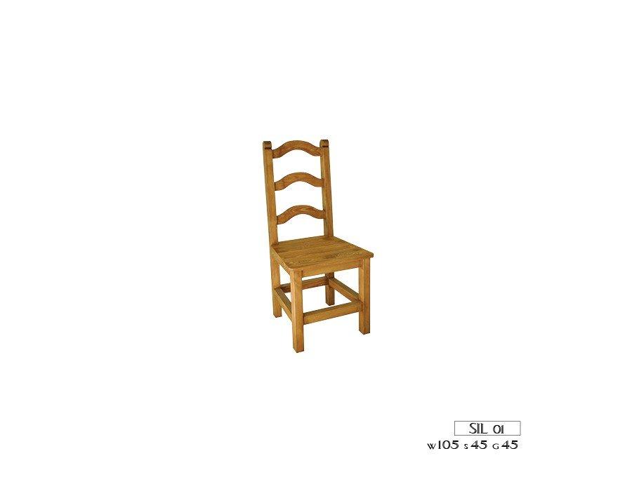 Kupić Krzesło woskowane Zefir Sil 01