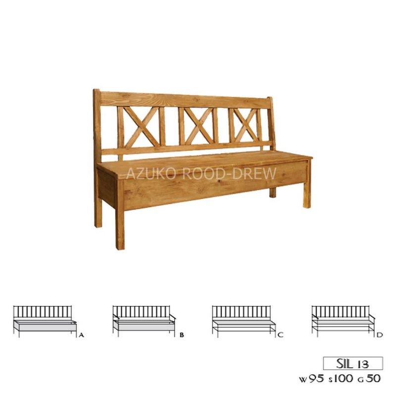Kupić Ławka drewniana rustykalna woskowana Sil 13